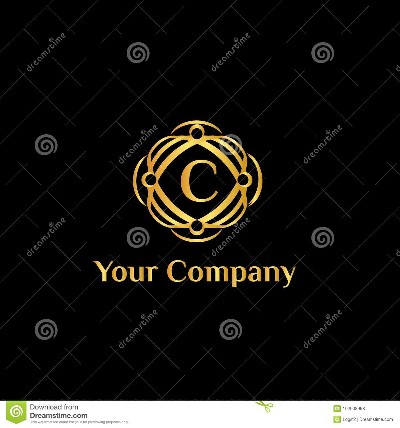 Fashion Brand Vector Logo Template Letter C Stock Vector Illustration Of Label Isolated 102008998