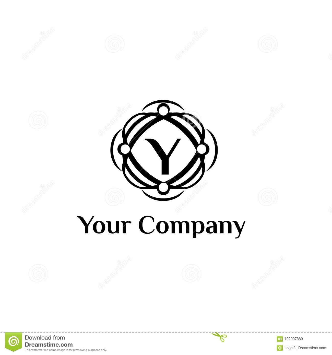 Fashion Brand Vector Logo Template Letter Y Stock Vector