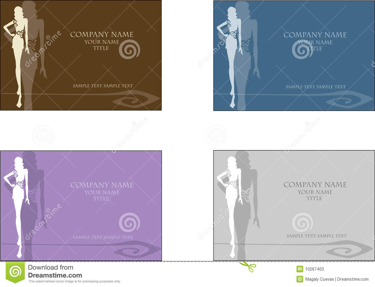 fashion business card 2 stock photos