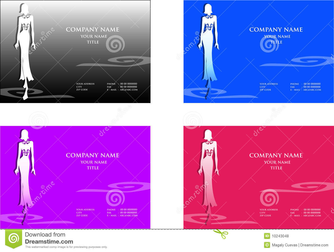 Fashion business cards stock vector illustration of woman 10243048 fashion business cards cheaphphosting