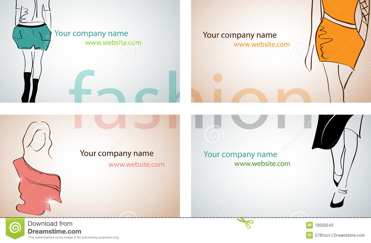 Fashion business cards stock vector image of paper business fashion business cards magicingreecefo Images