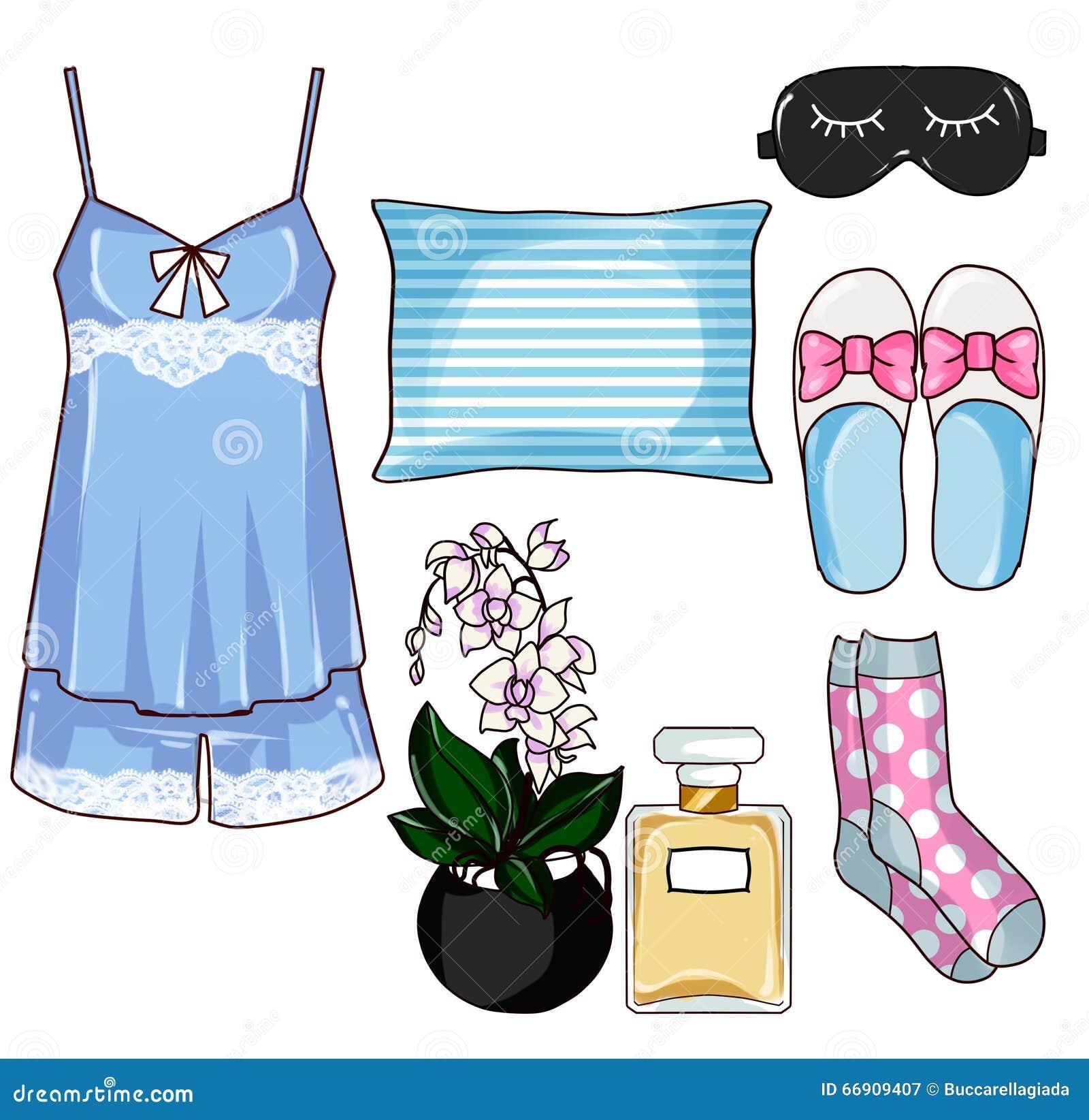 Fashion clip art set pajama collection fashion set stock for Fashion designer craft sets