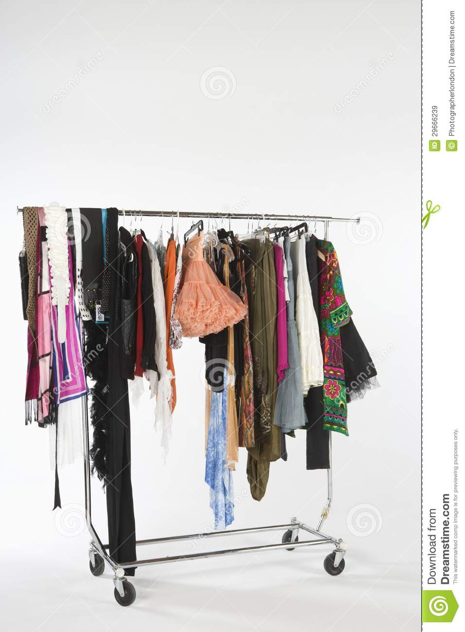 Fashion Clothes Hanging On Clothes Rail Stock Image - Image Of Clothes Casual 29666239