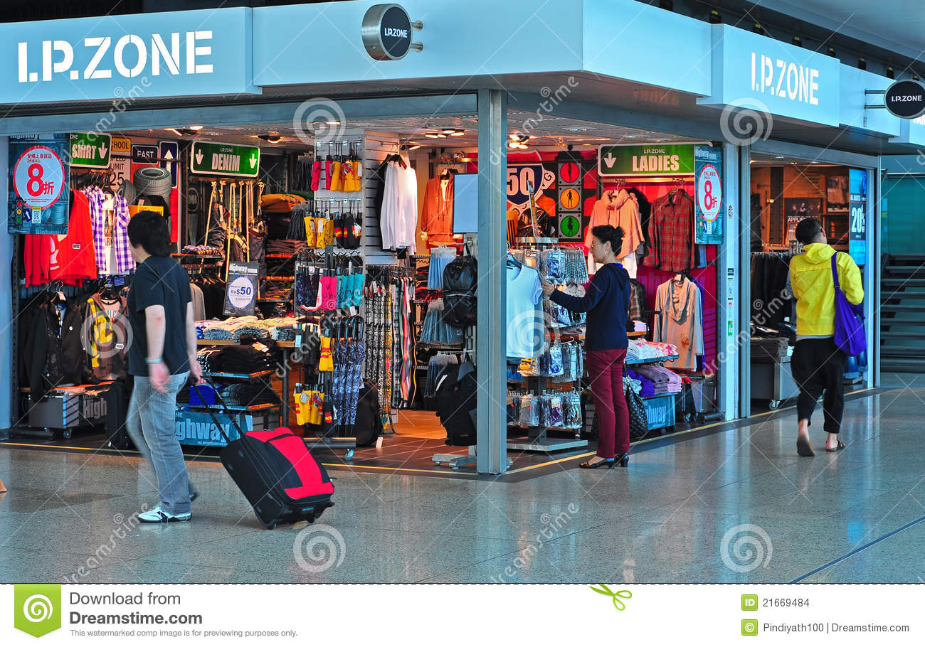 Fashion clothes store in hong kong Editorial Stock Image