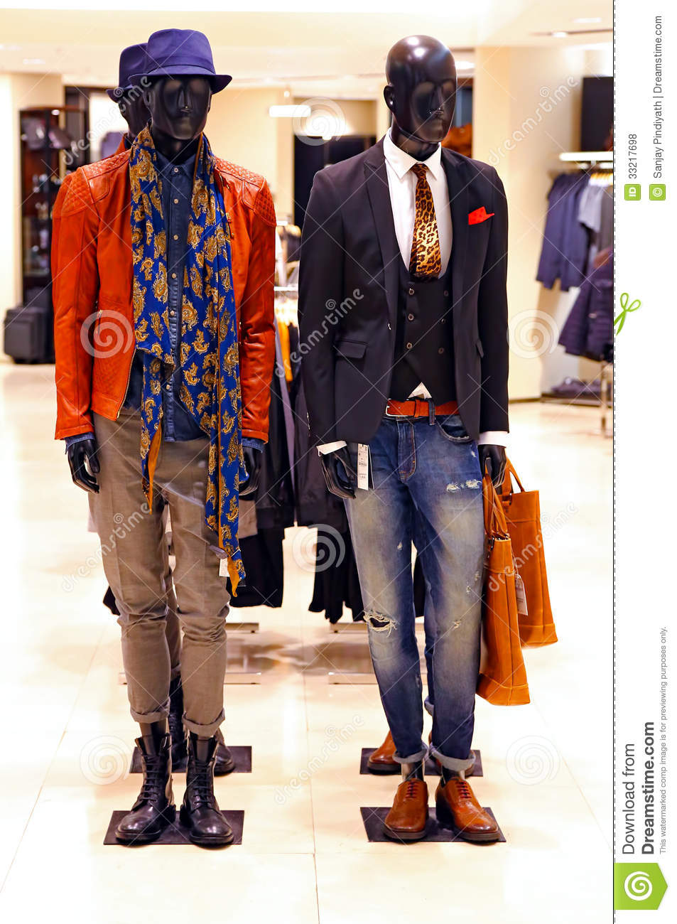 Clothing stores for men