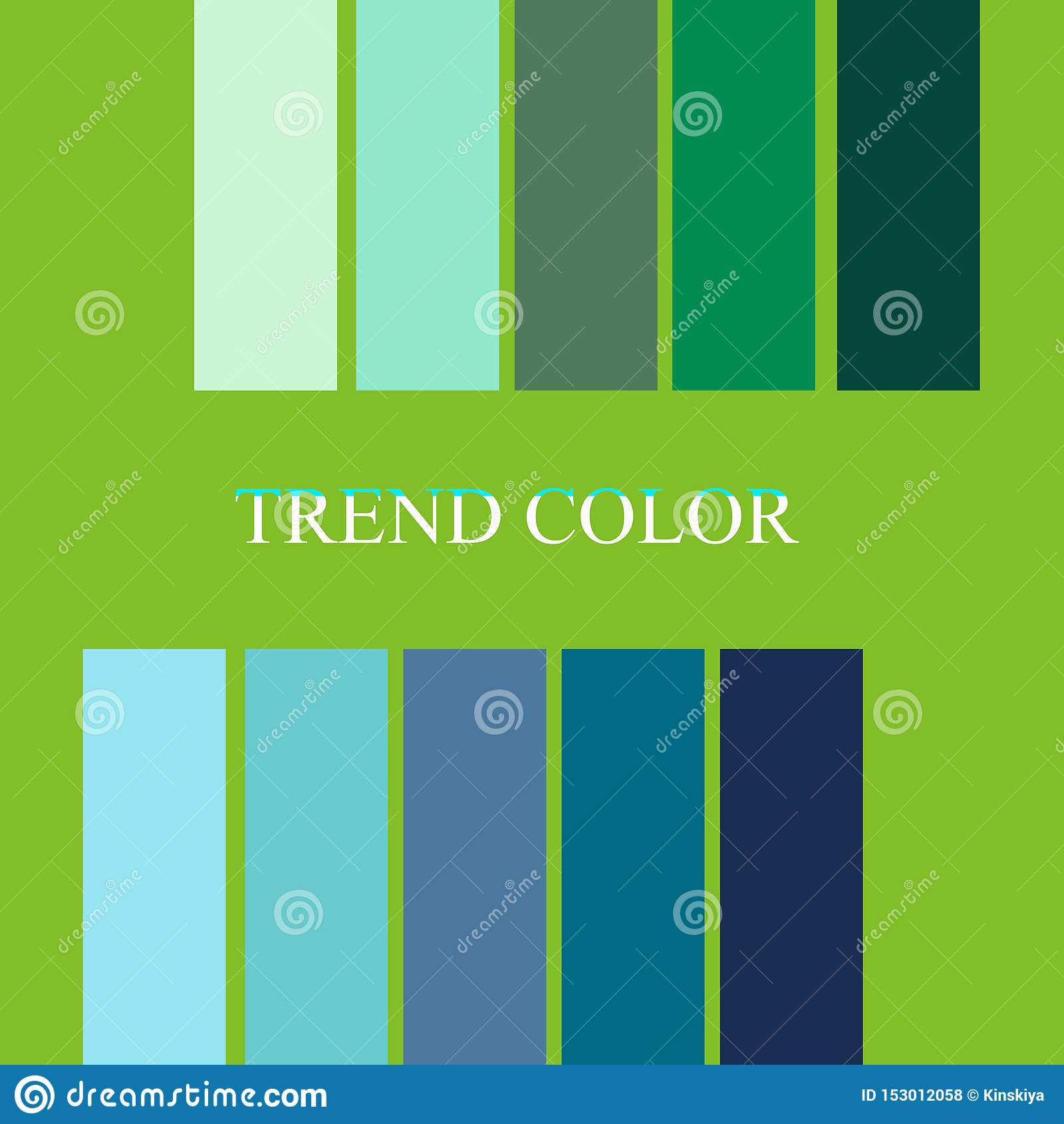 Fashion Color Palettes Trend 2019 Year Stock Illustration Illustration Of Graphic Illustration 153012058