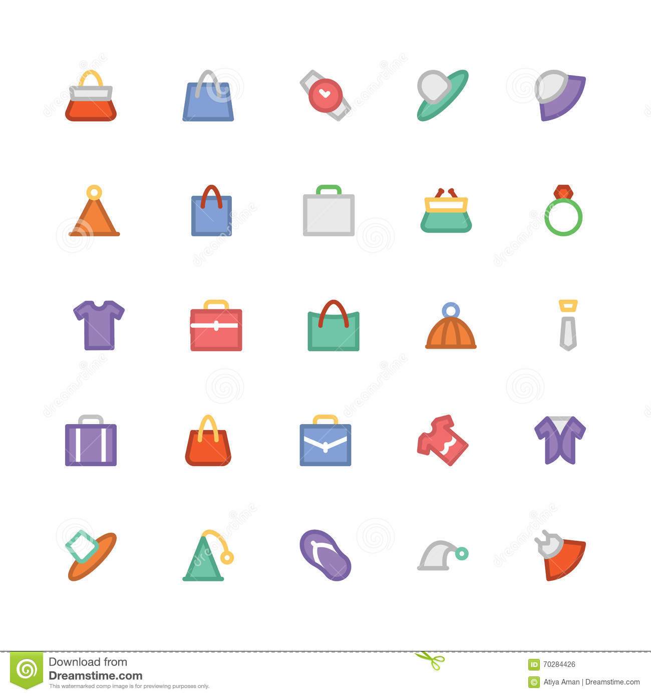 Fashion Colored Vector Icons 1 Stock Illustration Image