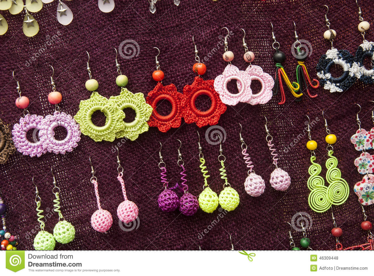 Fashion Crochet Earrings Patterns Stock Photo Image Of Knitting