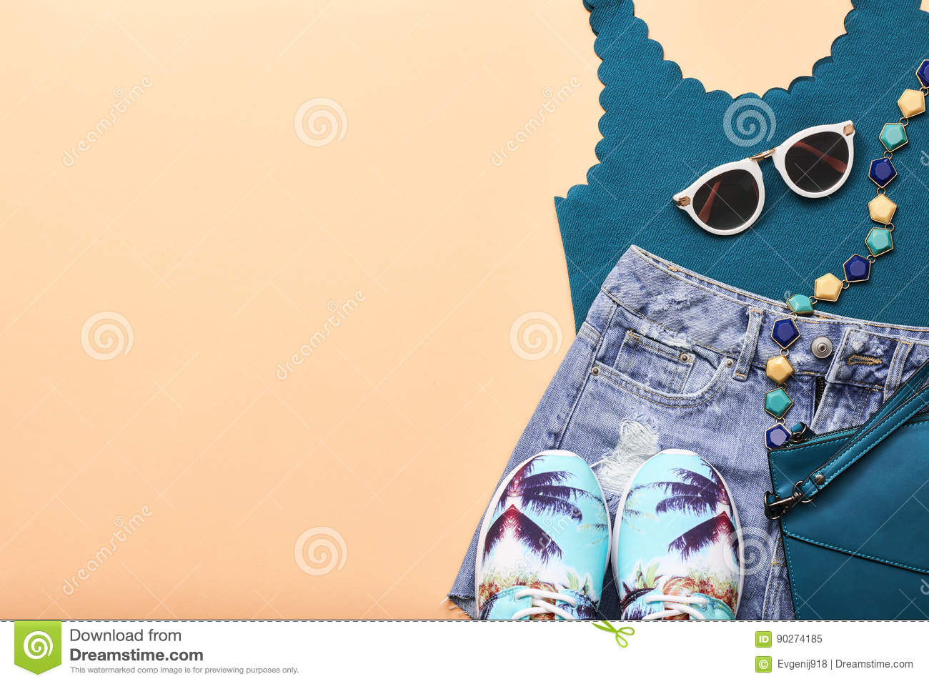 Fashion Design Hipster Accessories Urban Outfit Stock Image