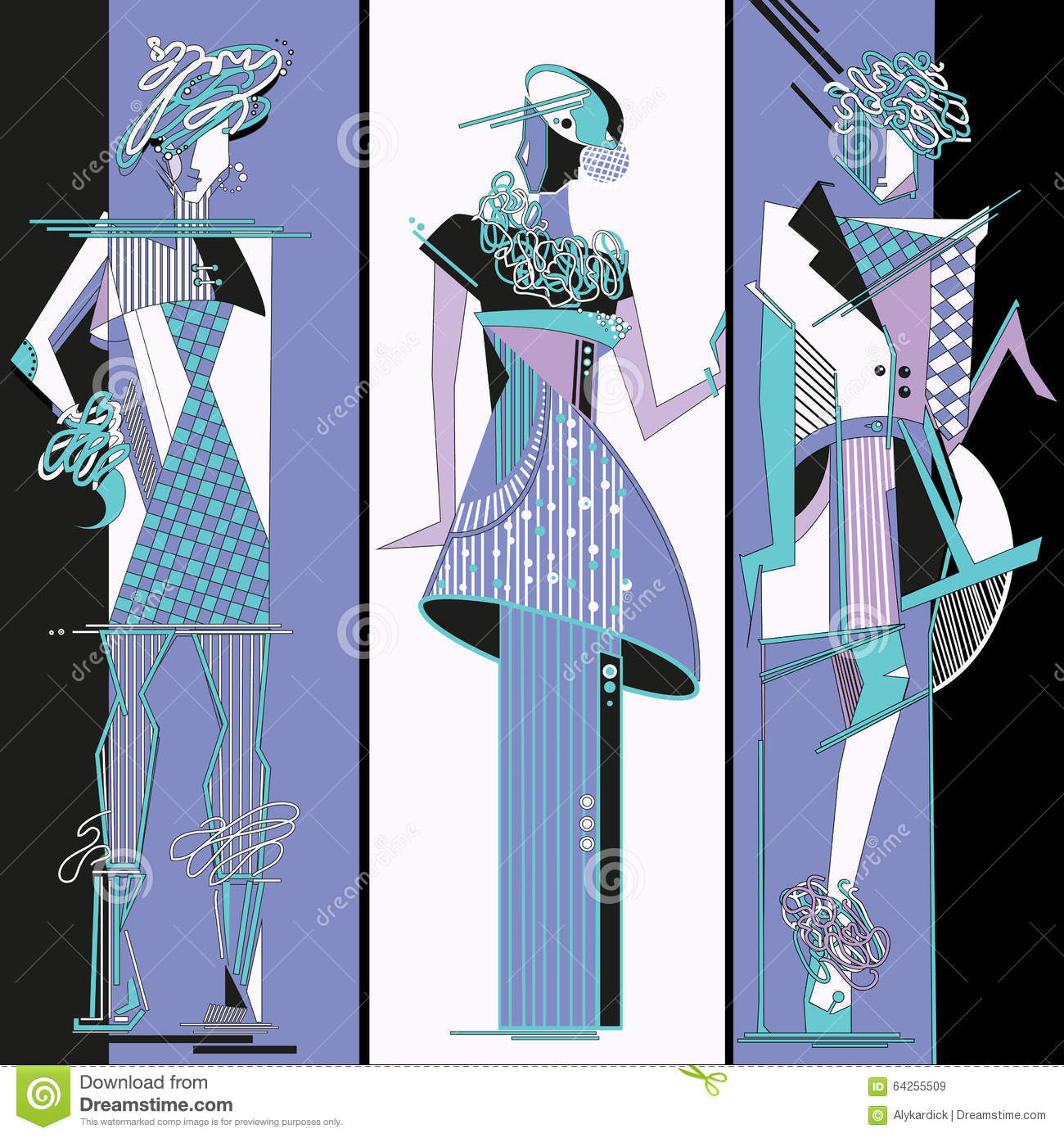 Fashion Design Sketch Stock Vector Illustration Of People 64255509