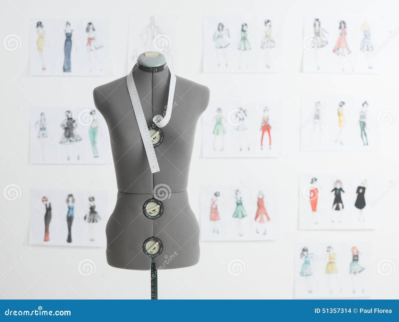 Fashion Design Studio Stock Illustration Image 51357314