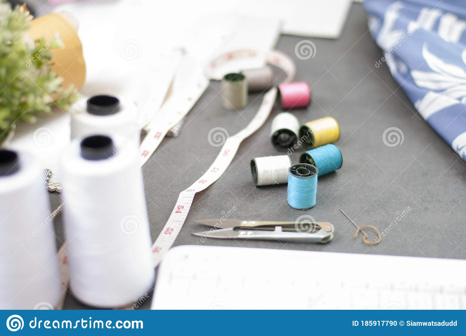 Fashion Design Working Studio Fashion Industry Set Of Tailor Accessories Stock Photo Image Of Adult Creative 185917790