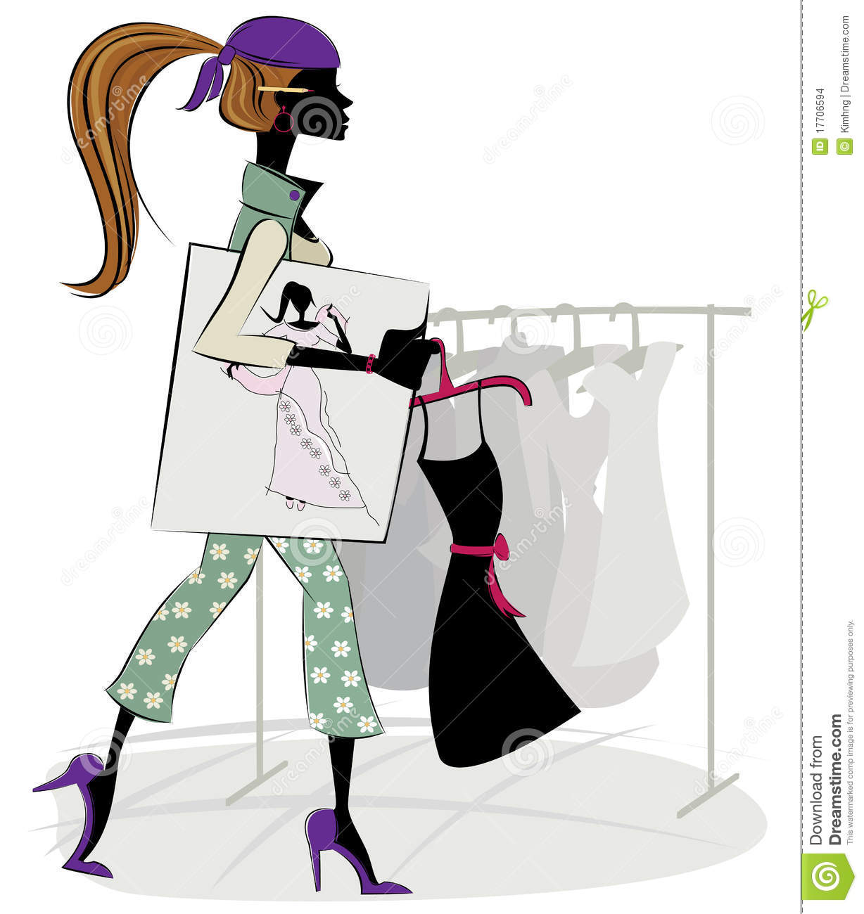 Fashion designer stock vector image of elegance business for To be a fashion designer