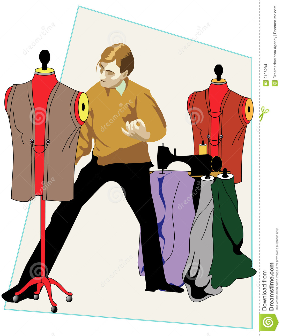 Fashion Designer Stock Illustration Illustration Of Suit