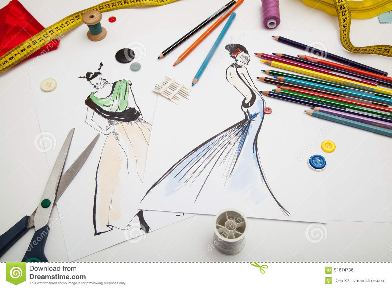 Fashion Designer Background Stock Photo Image Of Paper Color 91674736