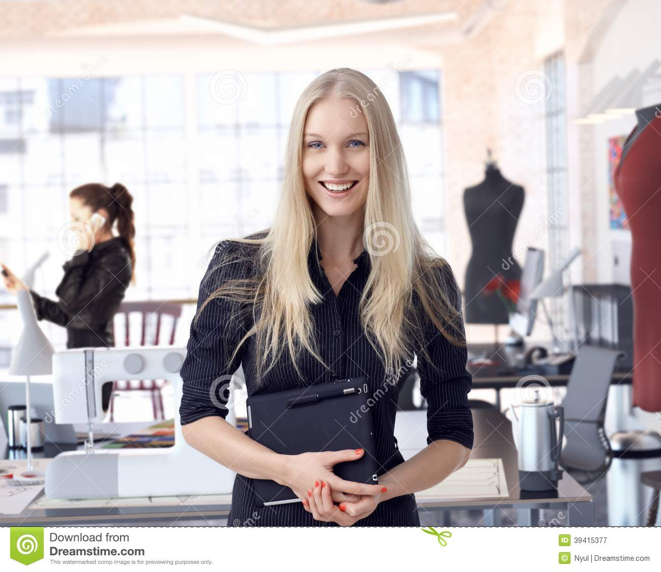 Fashion Designer Entrepreneur At Small Business Stock ...