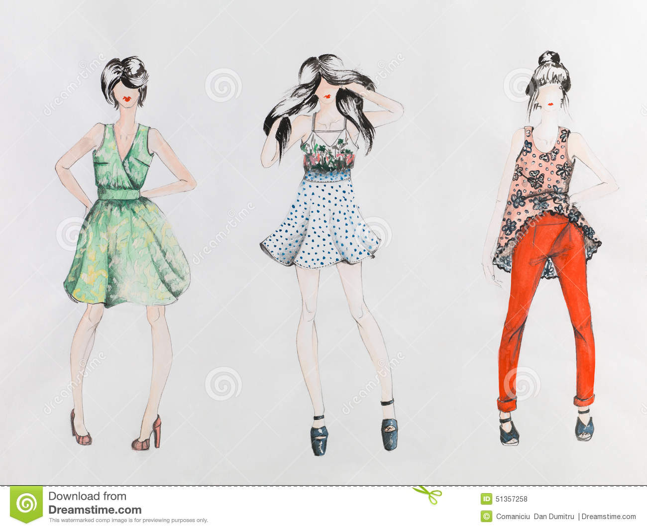 Hand drawn fashion designs 28