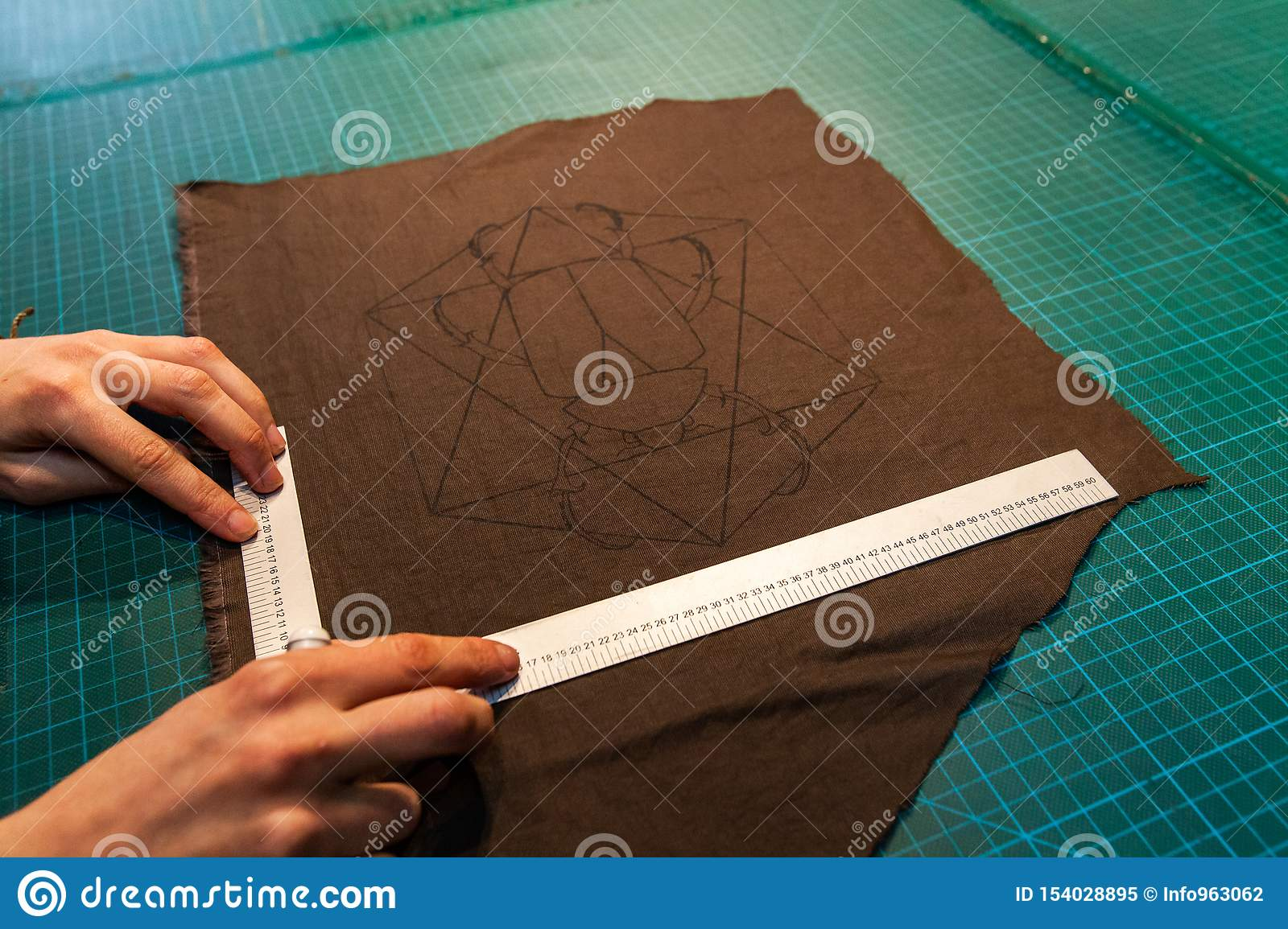 Fashion Designer Is Preparing Patches Stock Image Image Of Factory Process 154028895