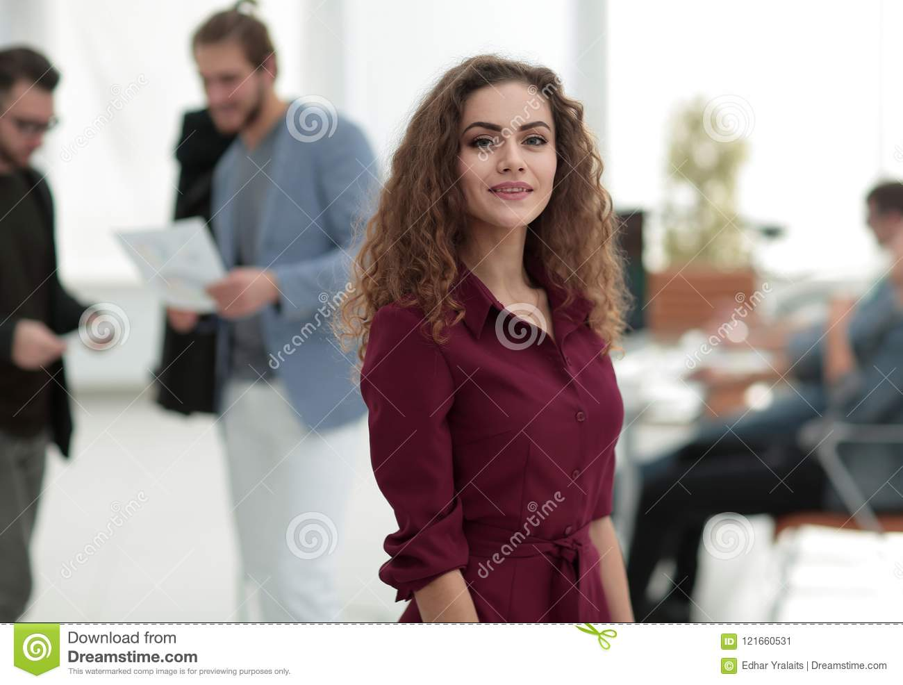 Fashion Designer Standing In A Creative Studio P Stock Image Image Of Dress Happy 121660531