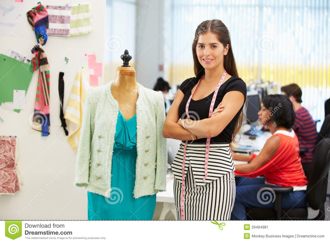 Fashion Designer In Studio Stock Image Image Of Business 29484981