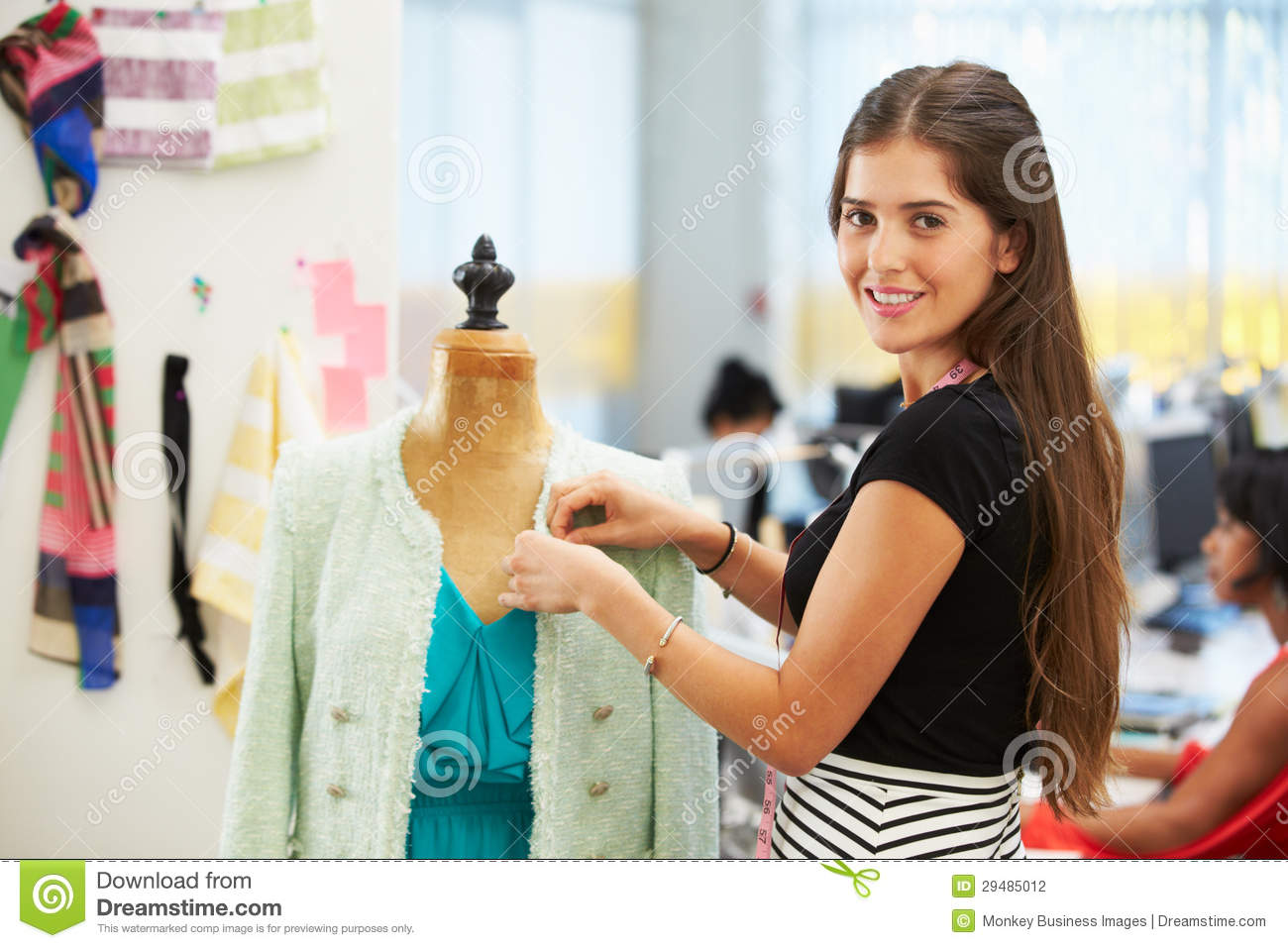 Fashion Designer In Studio Stock Photography Image 29485012