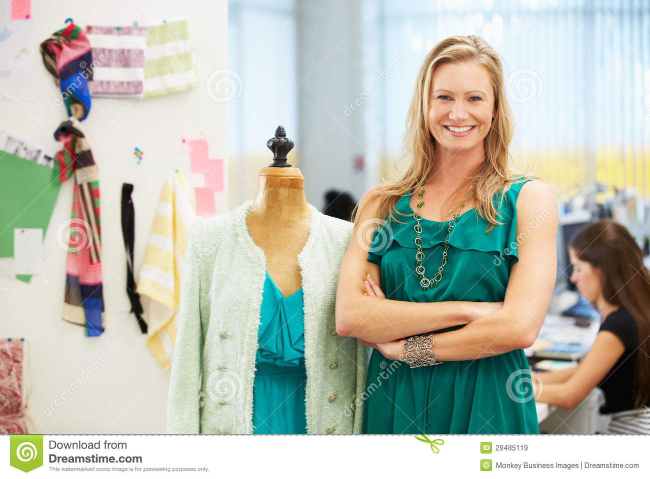 Fashion Designer In Studio Royalty Free Stock Images Image 29485119