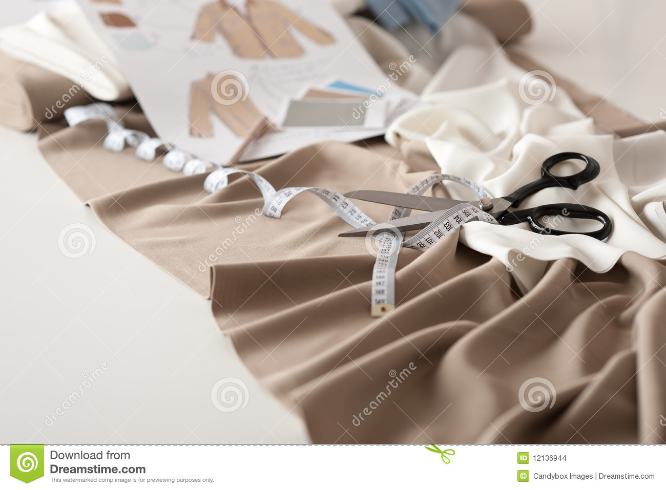 Fashion Designer Studio With Equipment Stock Photo Image