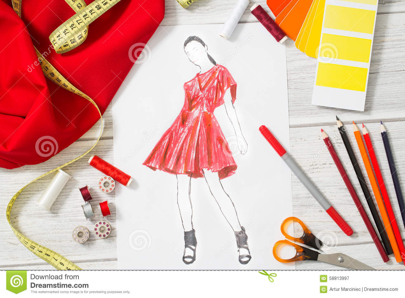 Fashion Designer Stock Photo Image 58813997