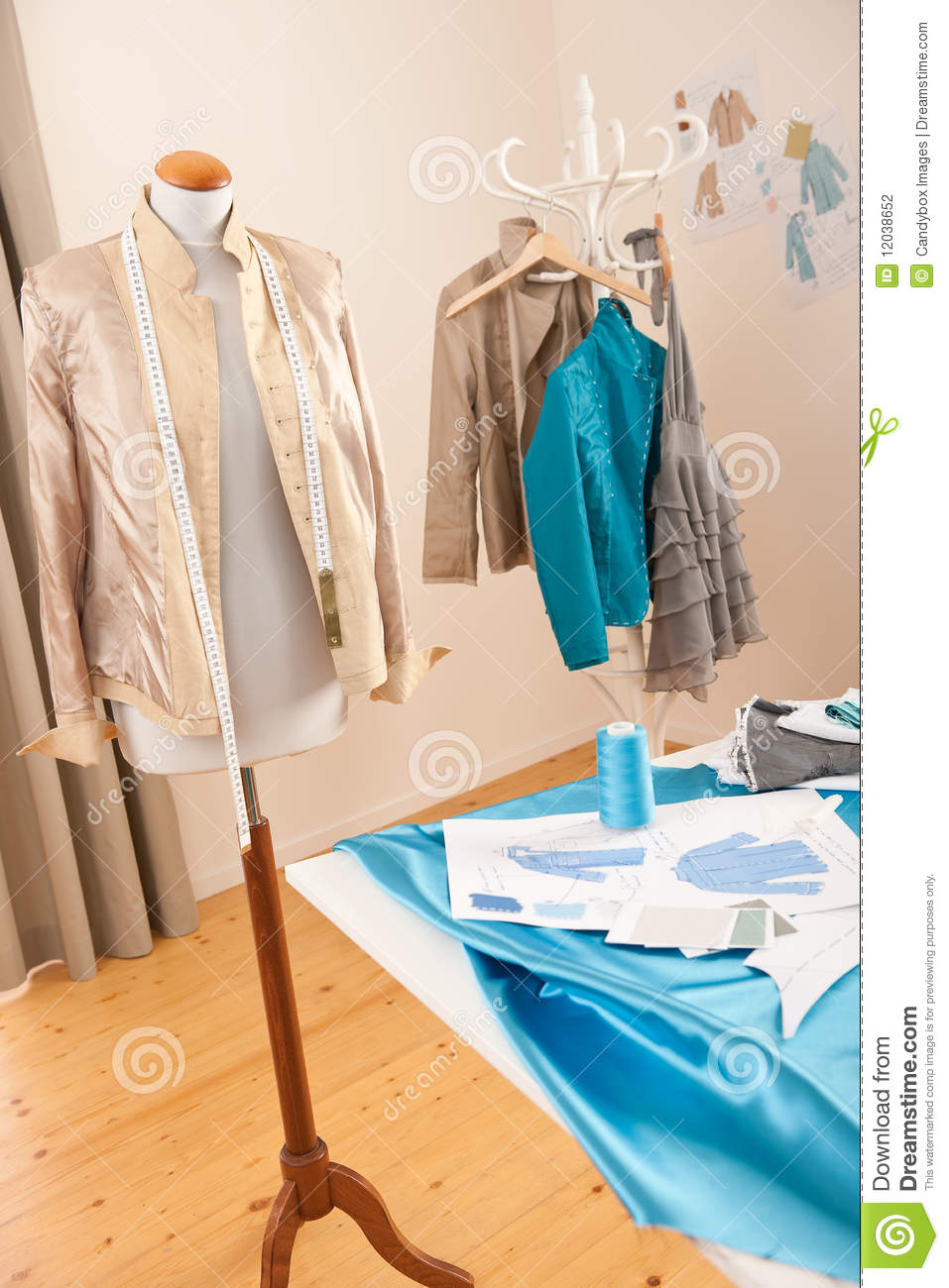 Fashion Designer Studio With Mannequin Stock Photography