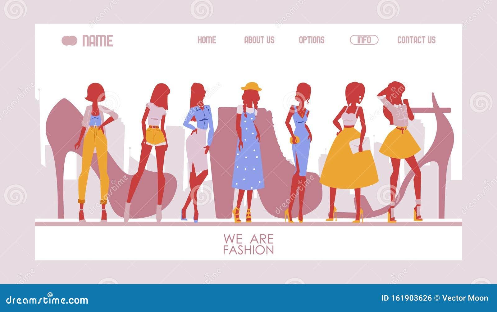 Fashion Designer Website Template Vector Illustration Landing Page Design For Clothes And Accessories Store Fashion Stock Vector Illustration Of Elegant Collection 161903626