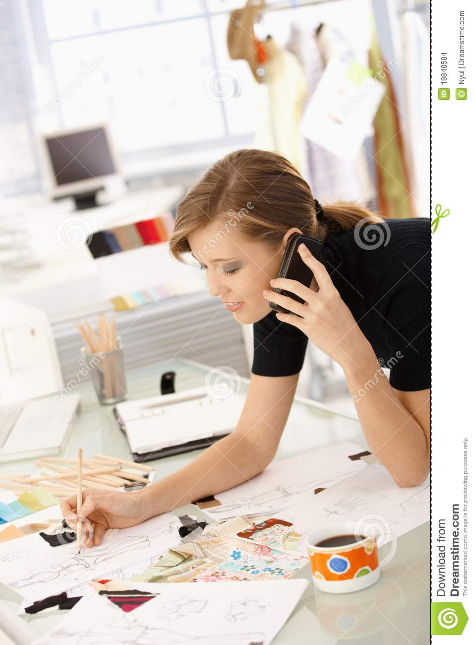 Fashion designer at work stock photo image of caucasian Contemporary fashion designers