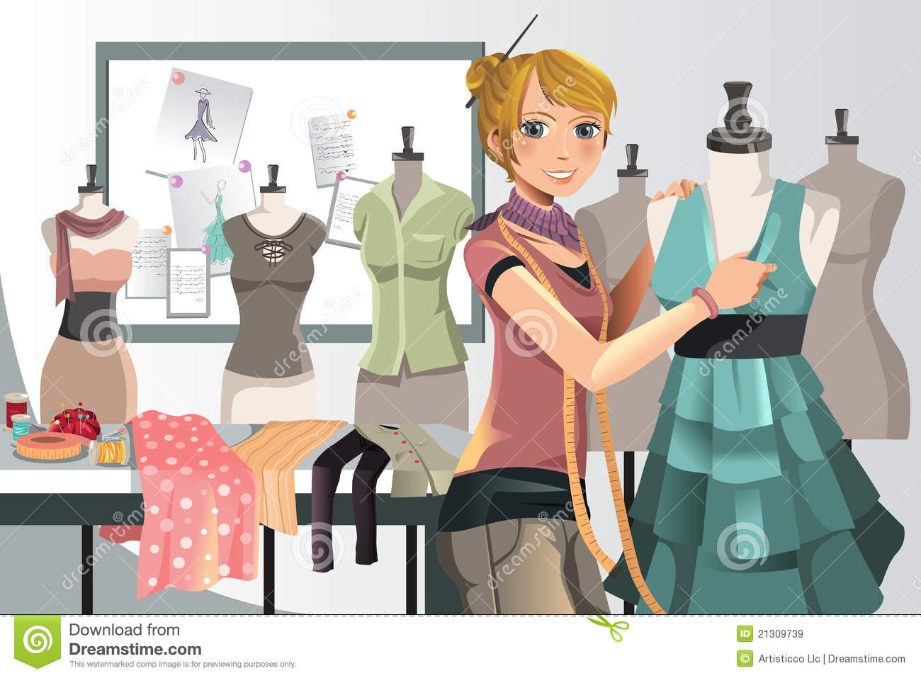 Fashion Designer At Work Royalty Free Stock Images Image