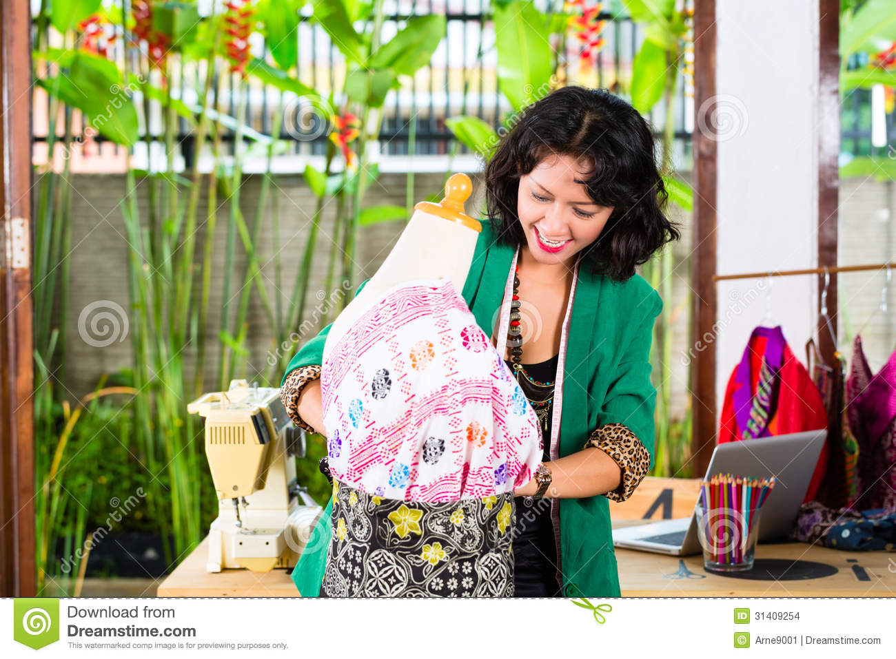 Fashion designer working at home royalty free stock photo for Home fashion