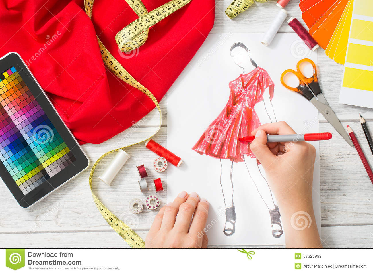 Fashion Designer Stock Photo Image 57323839