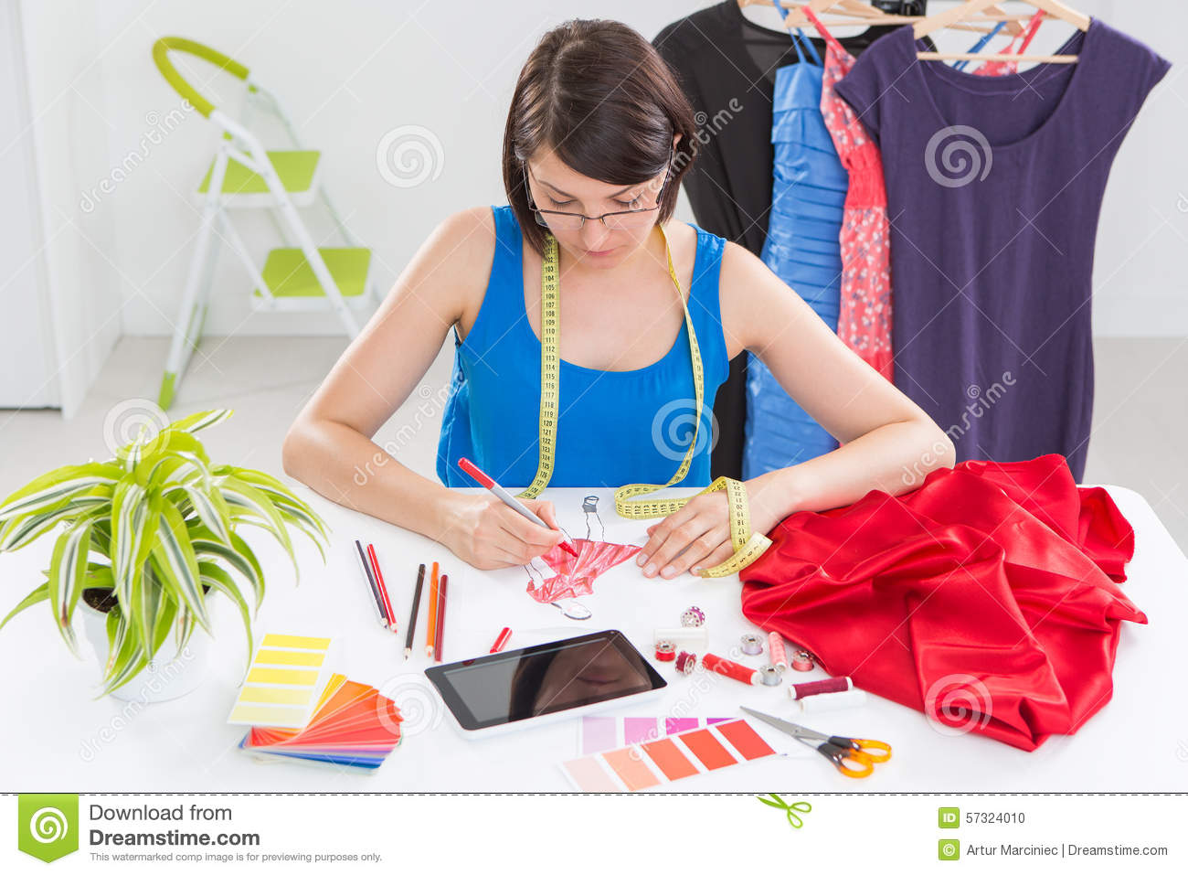 Fashion Designer Stock Photo Image Of Dress Clothing