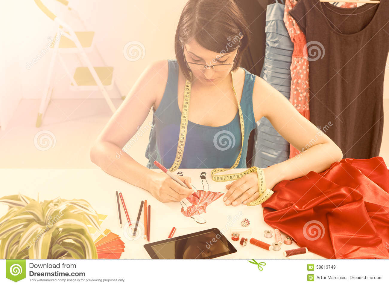 Fashion Designer Stock Photo Image 58813749