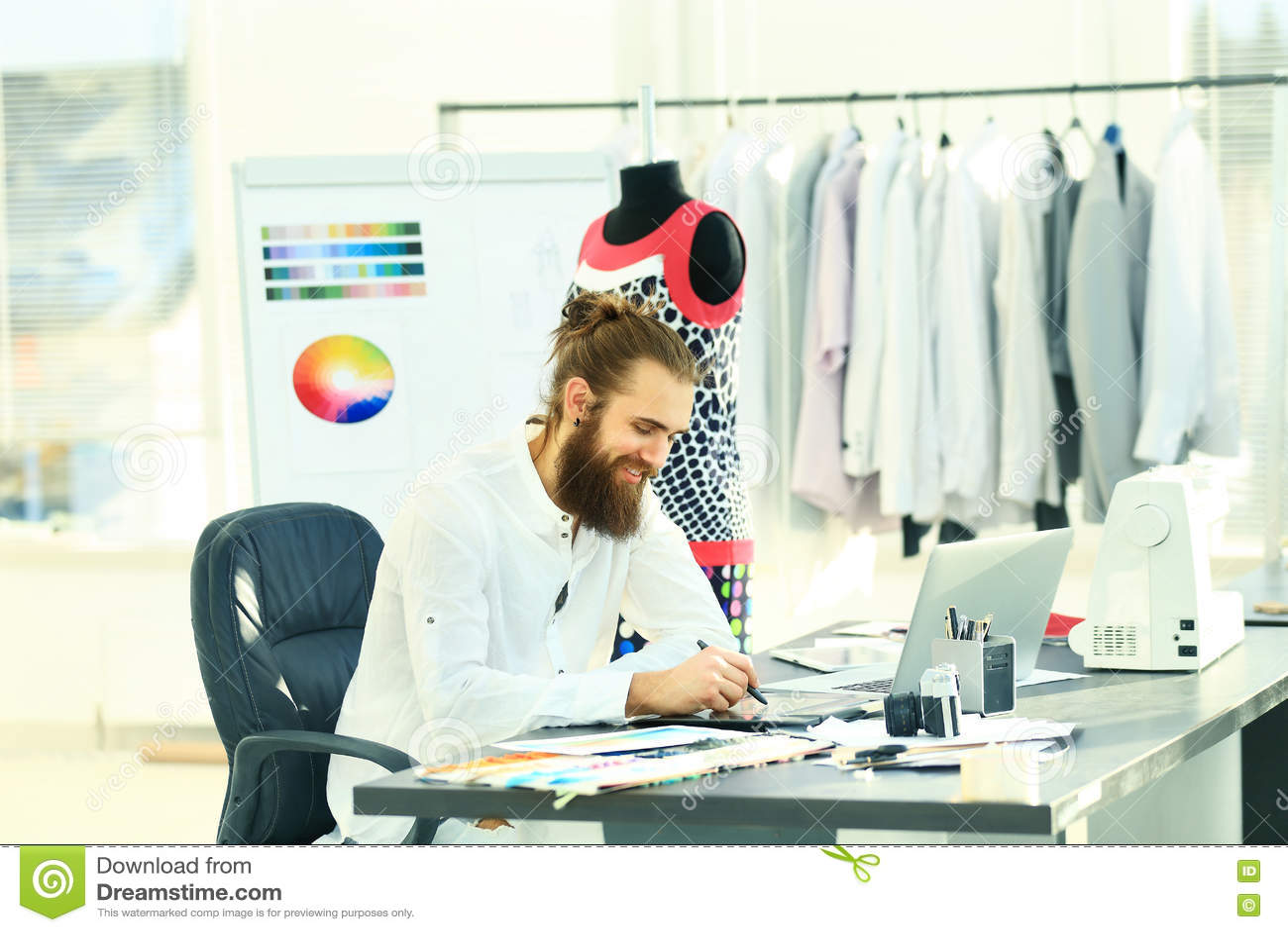 fashion designers drawings of fashion in creative Studio
