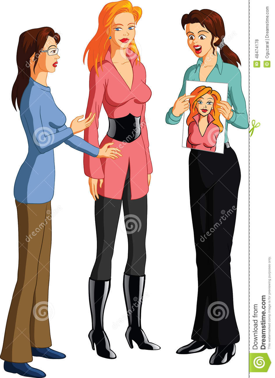 Fashion Designers Having A Discussion Stock Photo Image