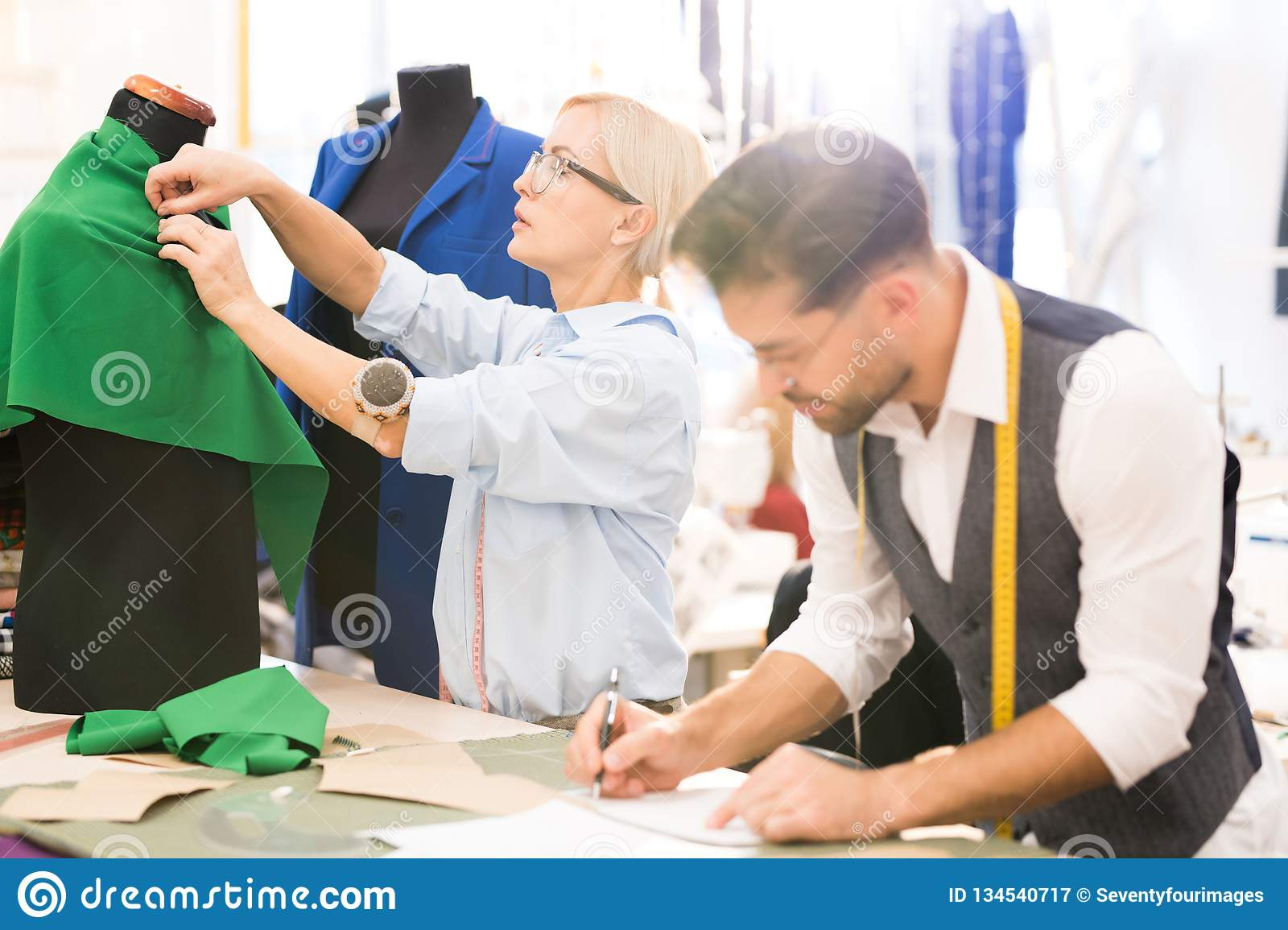 Fashion Designers In Traditional Atelier Stock Image Image Of Small Craft 134540717