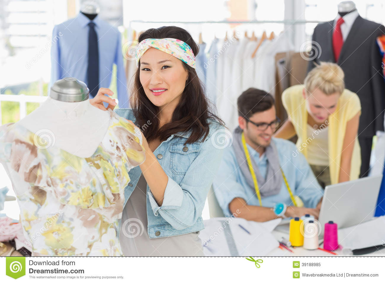 Fashion Designers At Work Stock Photo Image 39188985