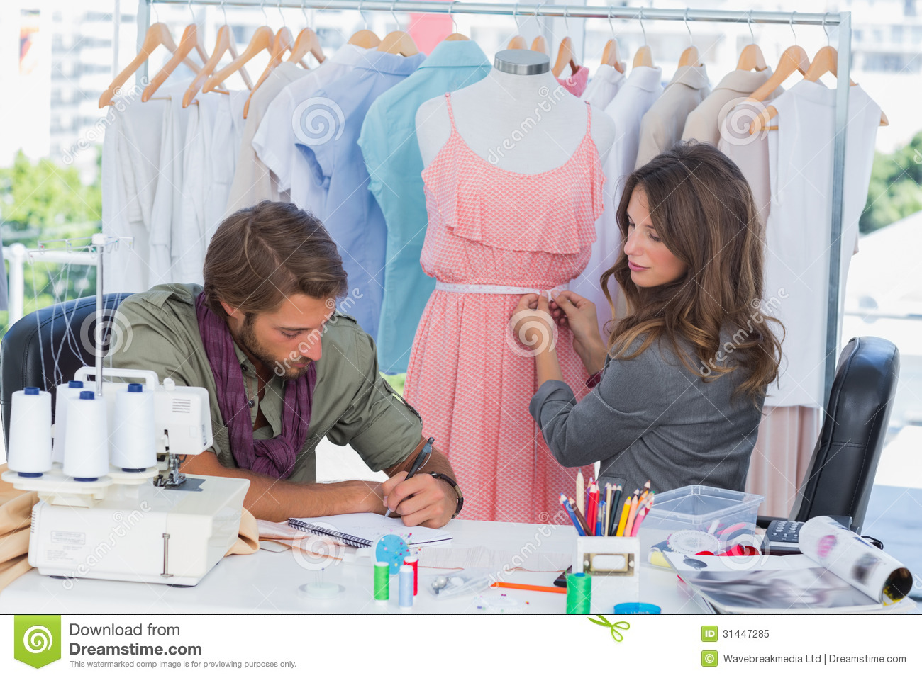 Fashion Designers Working Together Royalty Free Stock