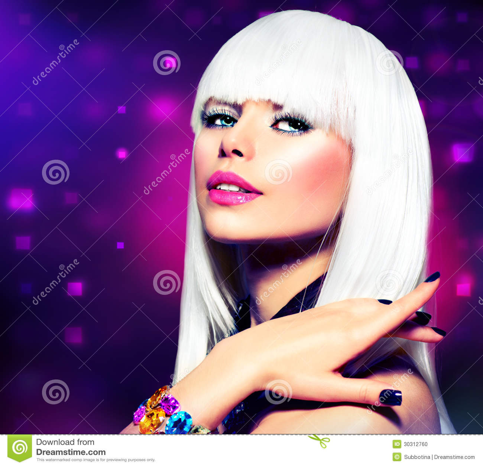 Disco Party Girl Stock Photo - Image 30312760