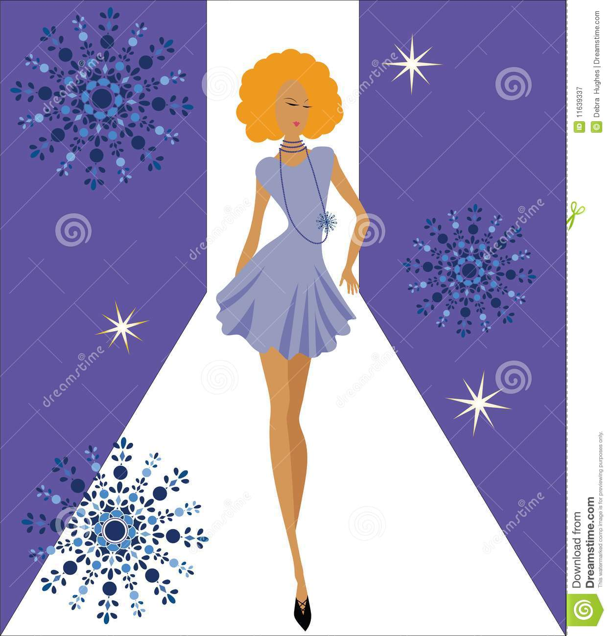Diva Pose Cartoon Vector 19390633