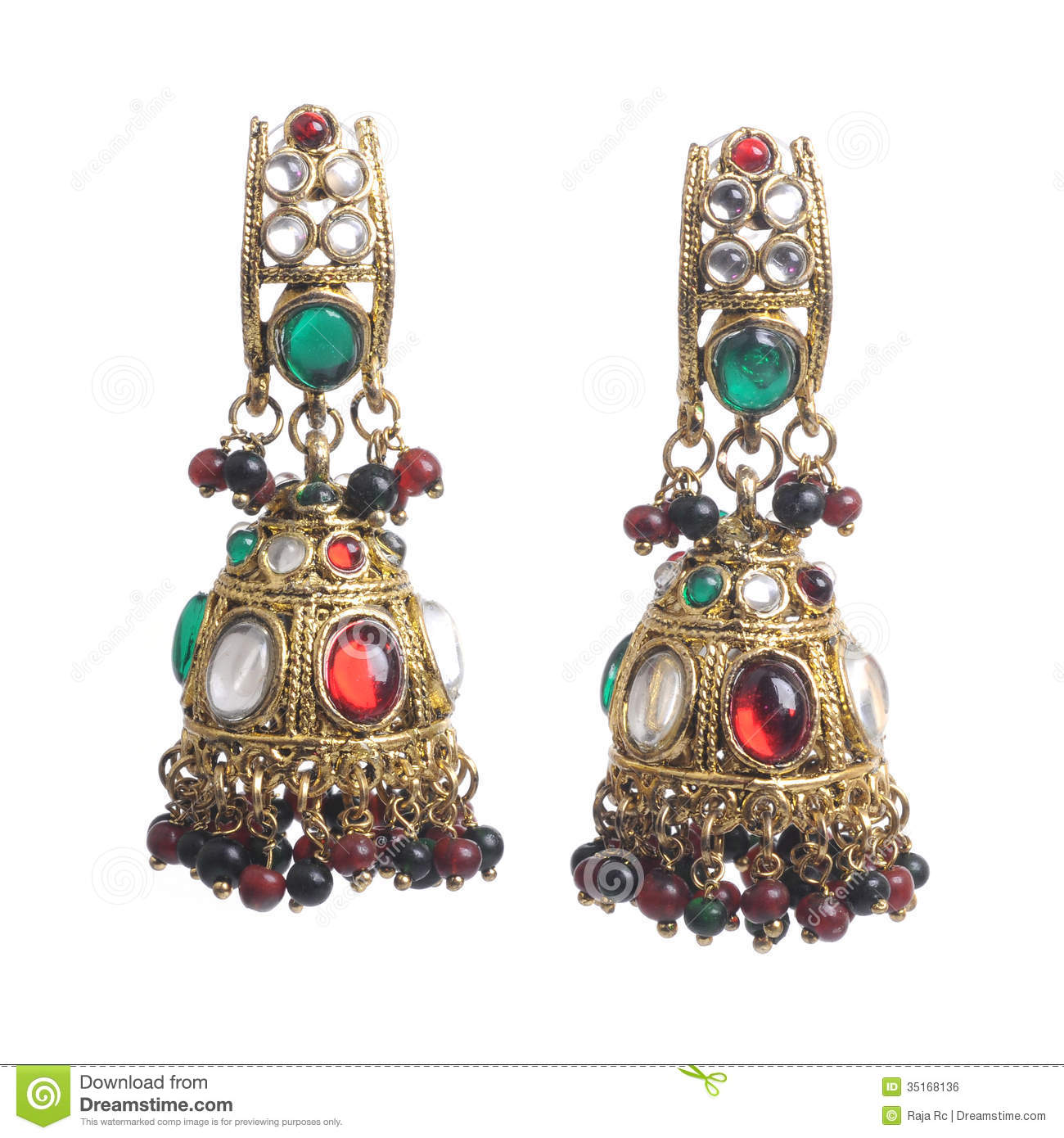 Earrings Stock Photos - Royalty Free Images - Dreamstime