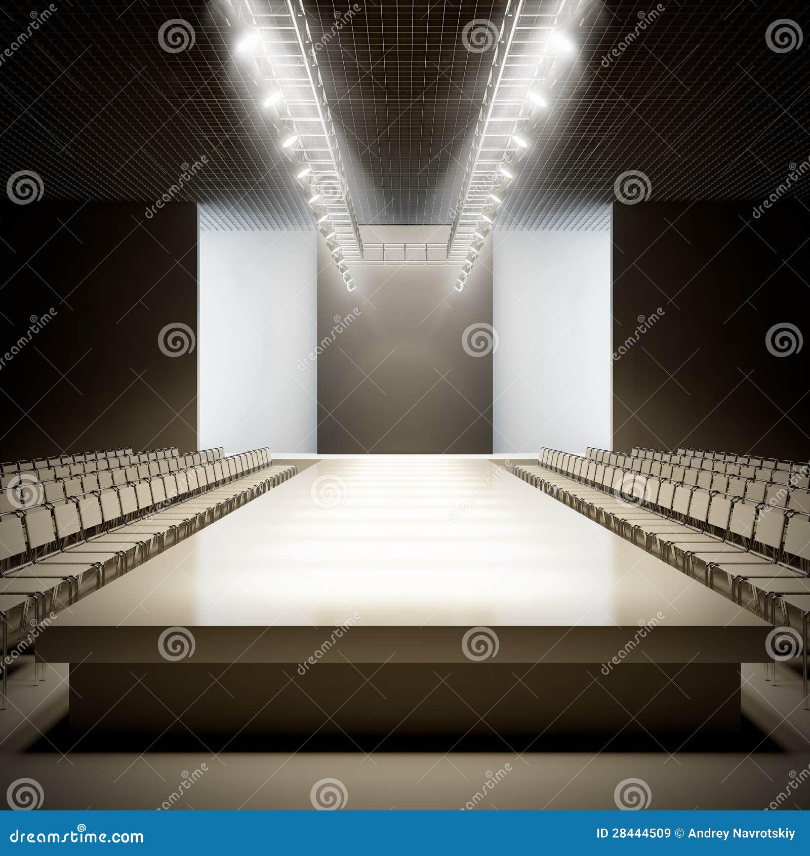 Fashion Empty Runway  ...