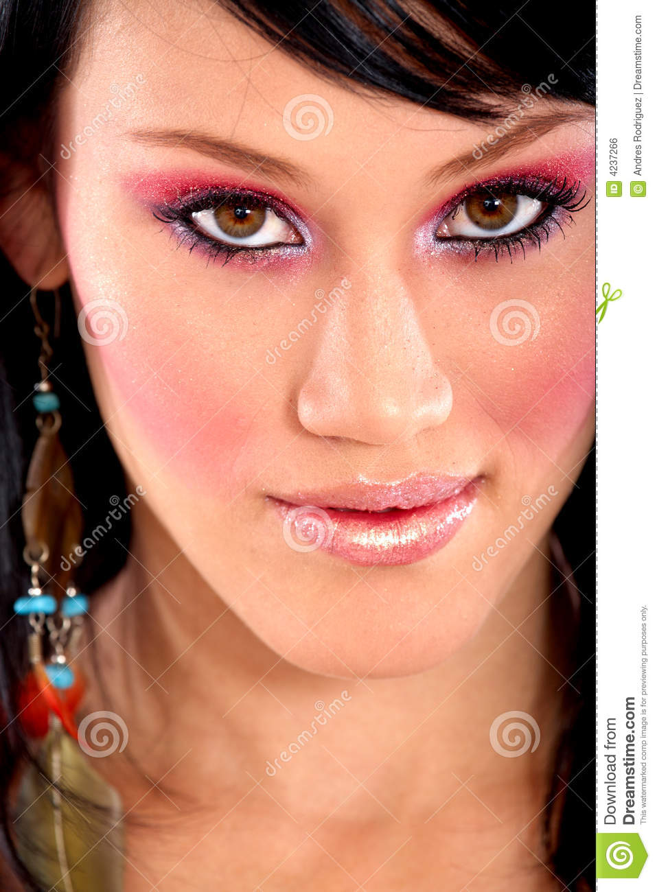 Fashion Face With Make Up Royalty Free Stock Image - Image ...
