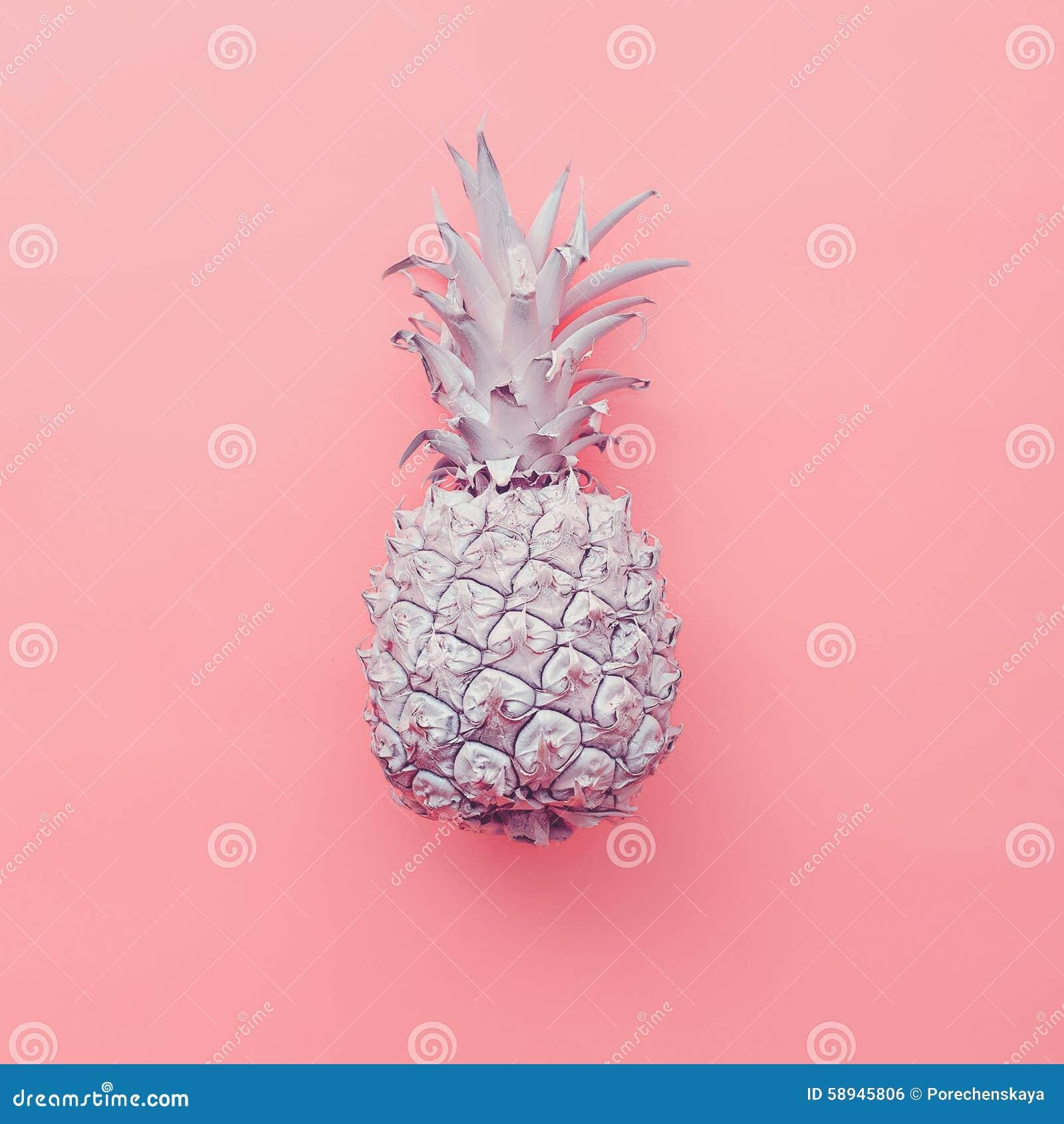 Fashion Fake Pineapple On Pink Background Minimal Style Stock Photo Image 58945806