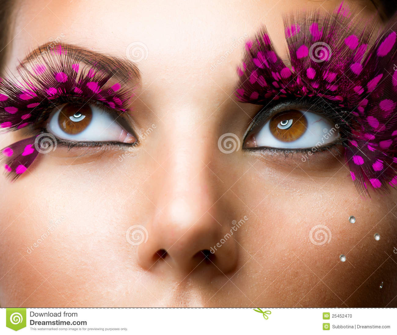 Fashion False Eyelashes Stock Photo Image 25452470