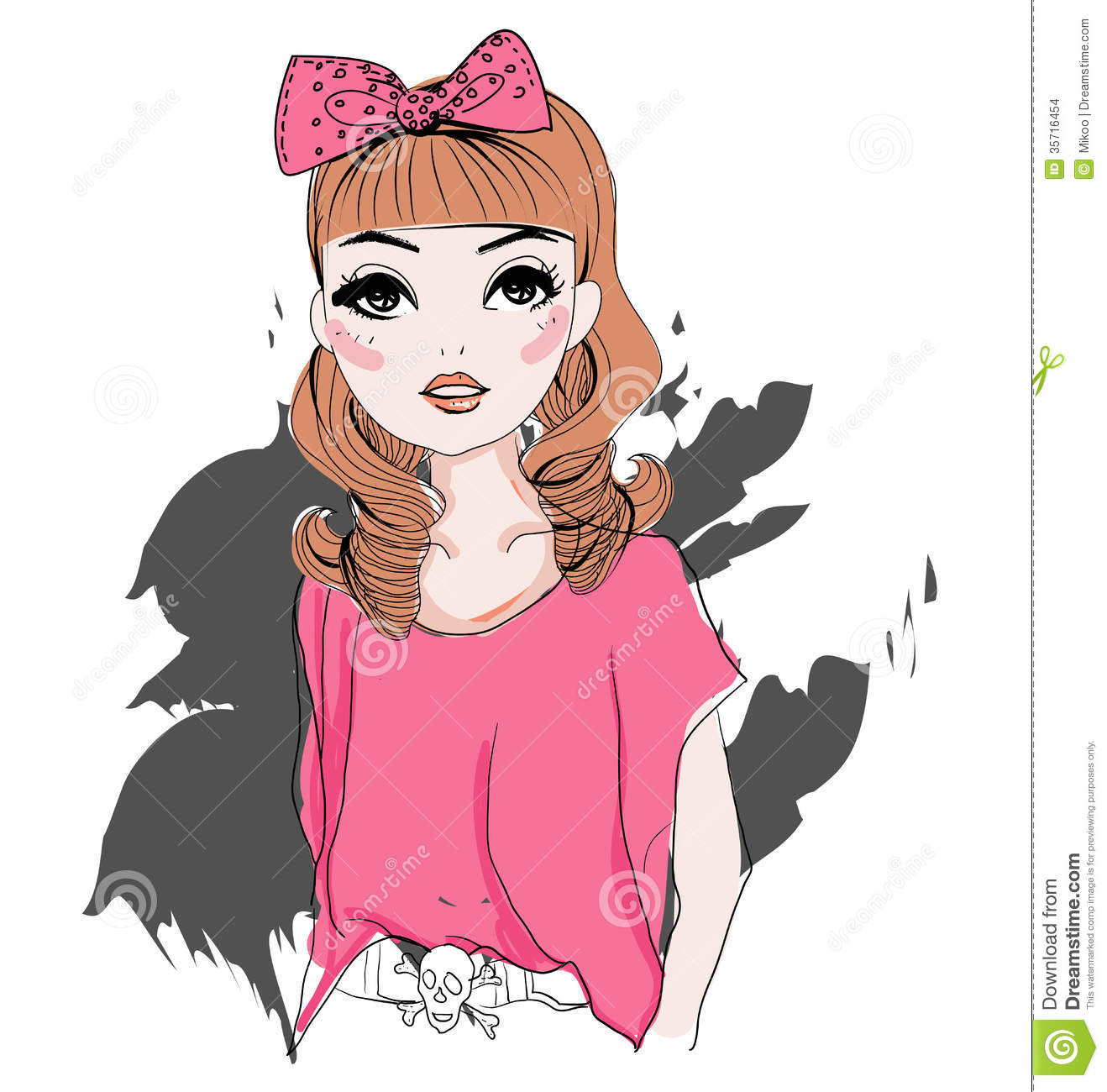 Fashion Girl Stock Vector. Illustration Of Attractive
