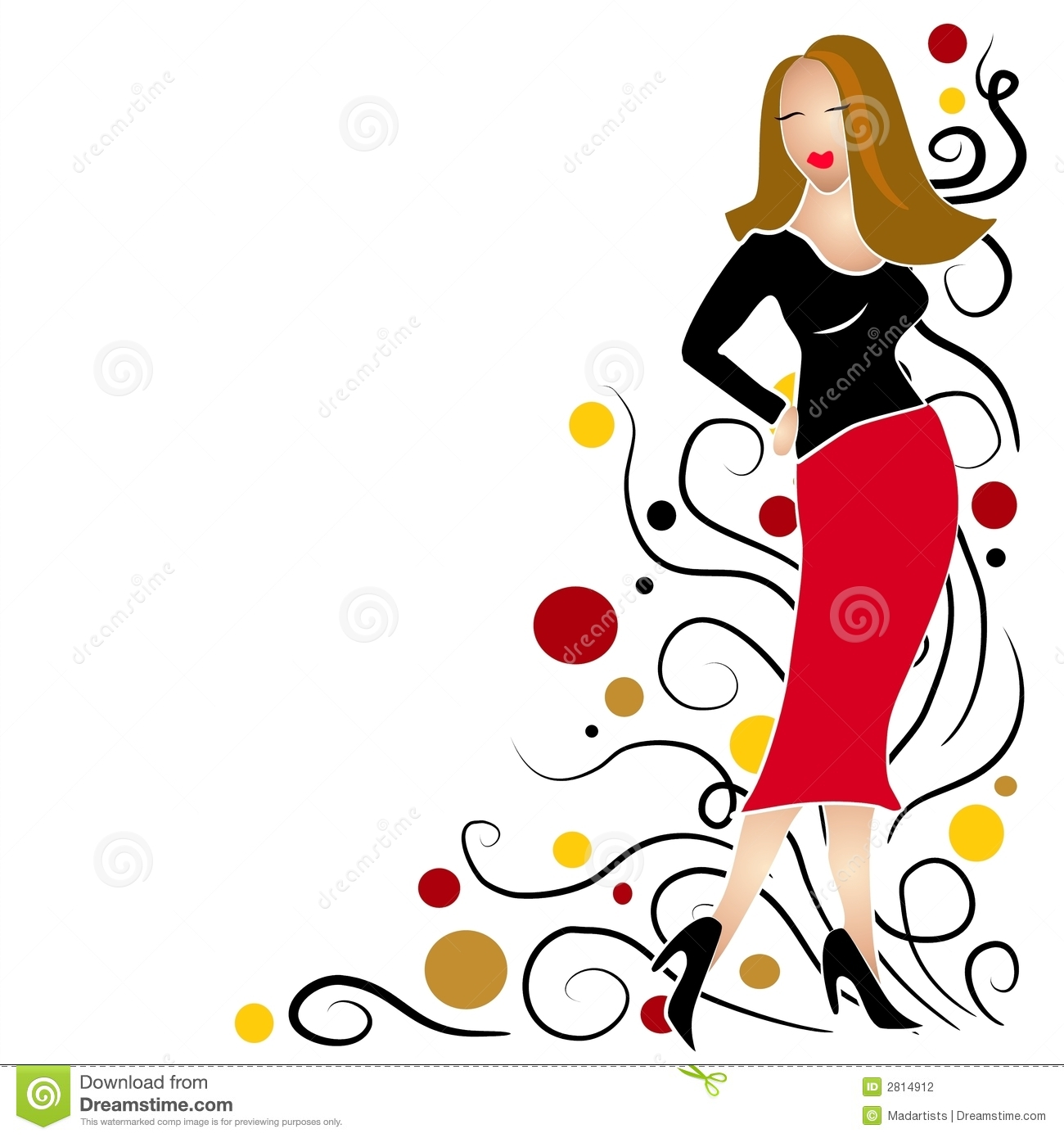 fashion girl clip art brunette stock illustration illustration of rh dreamstime com free girl clip art images free clipart girl singing